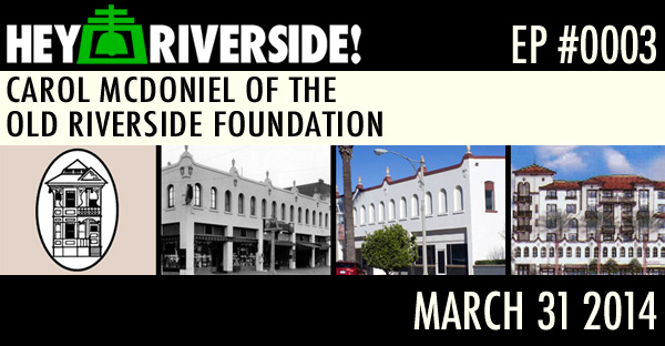 CAROL MCDONIEL OF THE OLD RIVERSIDE FOUNDATION