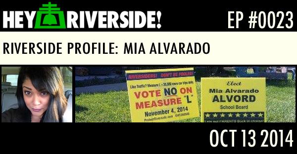 RIVERSIDE PROFILE: MIA ALVARADO