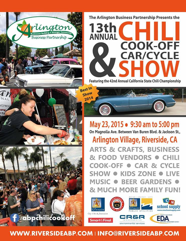 13TH ANNUAL CHILI COOK-OFF AND CAR/CYCLE SHOW