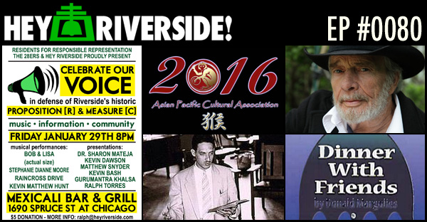 RIVERSIDE WEEKEND: FRIDAY JANUARY 29 2016