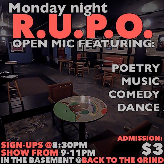R.U.P.O. Open Mic